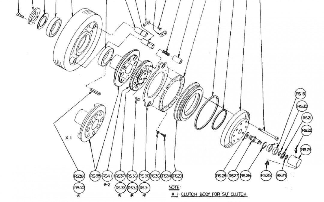Tipo R Embrague de fricción de Aire Modelo 254