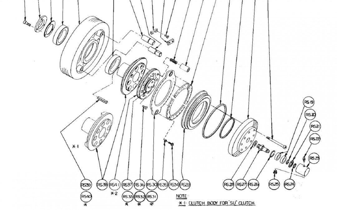 Tipo R Embrague de fricción de Aire Modelo 394
