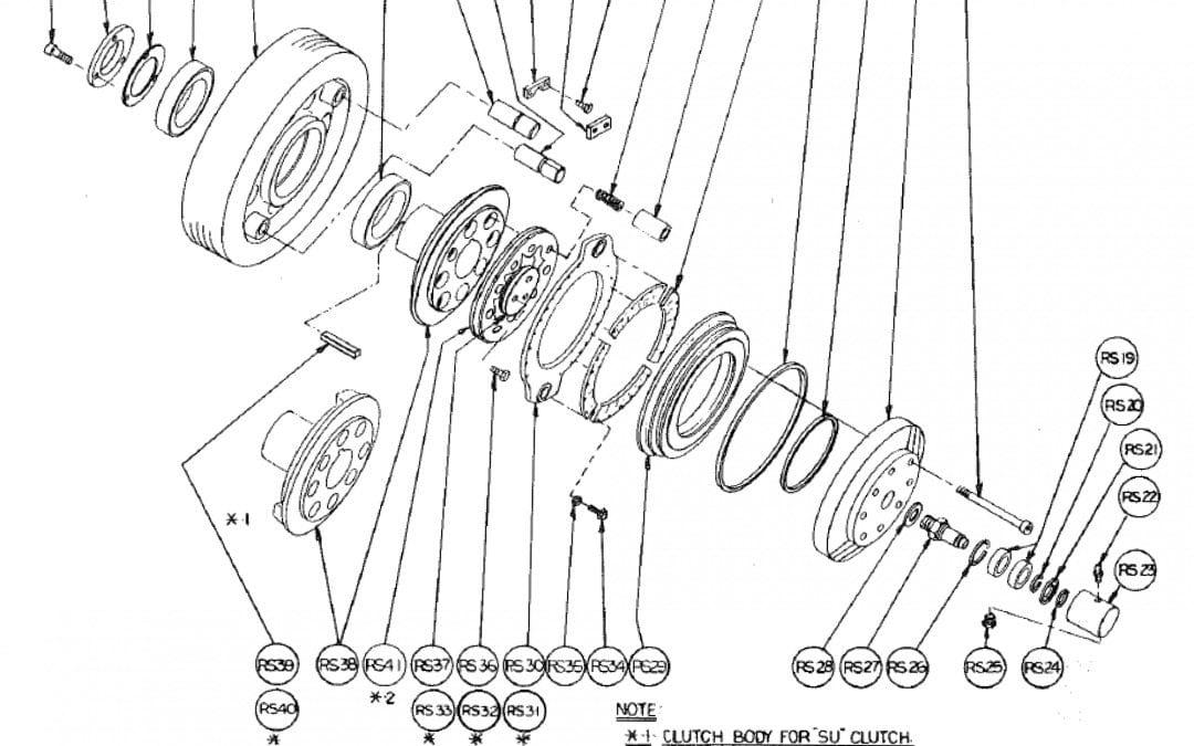 R Embrague de fricción de aire Modelo 44